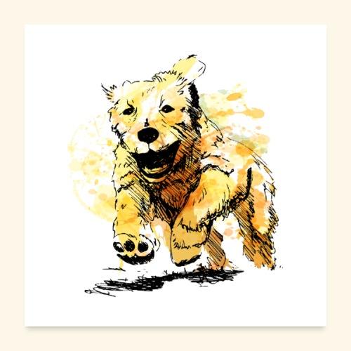 oil dog - Poster 24x24