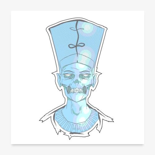 Nefertiti skull - Poster 24x24