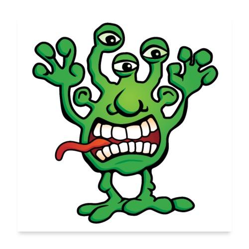 Cartoon Monster Alien - Poster 24x24