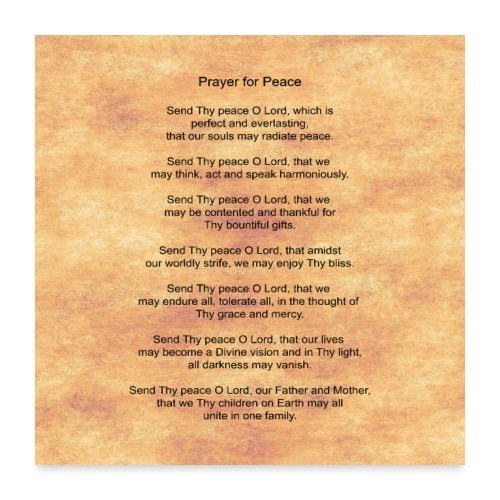 Prayer for Peace - Poster 24x24