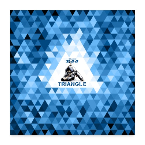 BJJ Triangle Choke blue - Poster 24x24