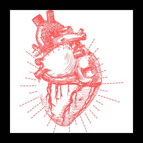 Hand Sketched Heart - Poster 24x24