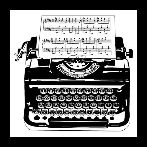 Music Type | Vintage Typewriter - Poster 24x24