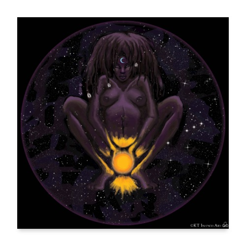 Great Black Mother:Darkness that Births the Light - Poster 24x24