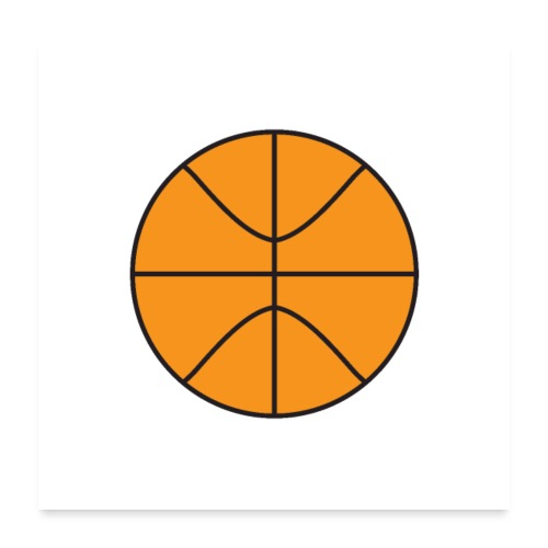 Plain basketball - Poster 24x24