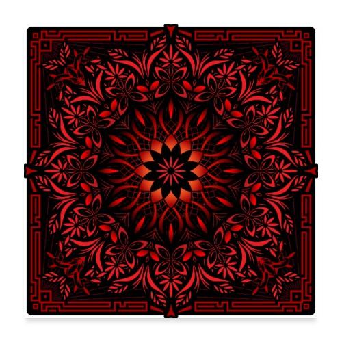 Psychedelic Mandala Geometric Color Illustration - Poster 24x24