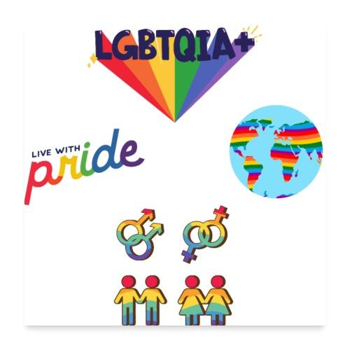 LGBTQIA+ Pride Rainbow Sticker Pack - Poster 24x24