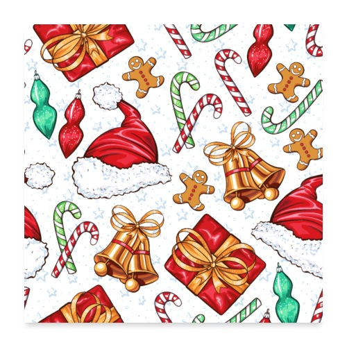 Christmas Wrapping Paper Pattern - Poster 24x24