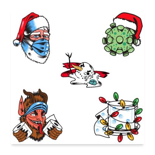 Coronavirus Christmas 2020 Sticker Pack - Poster 24x24