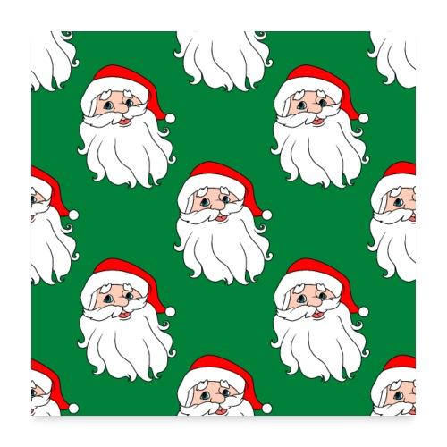 Santa Claus seamless pattern - Poster 24x24