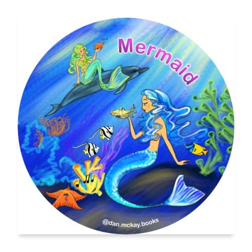 Mermaid print - Poster 24x24