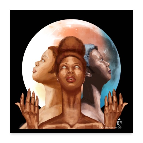 Triple Moon Goddess Eclipse - Poster 24x24