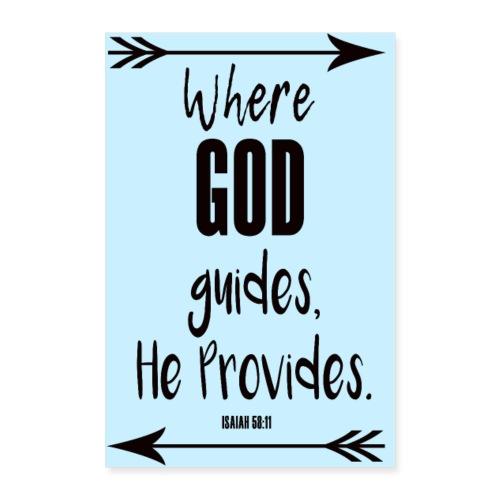 GOD Guides Provides Poster - Poster 8x12