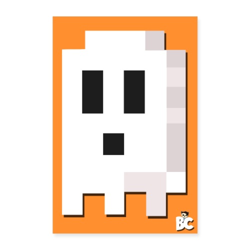 BuddhaCat Ghost Boo Poster - Poster 8x12