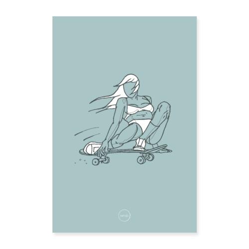 Skater Girl - Poster 8x12