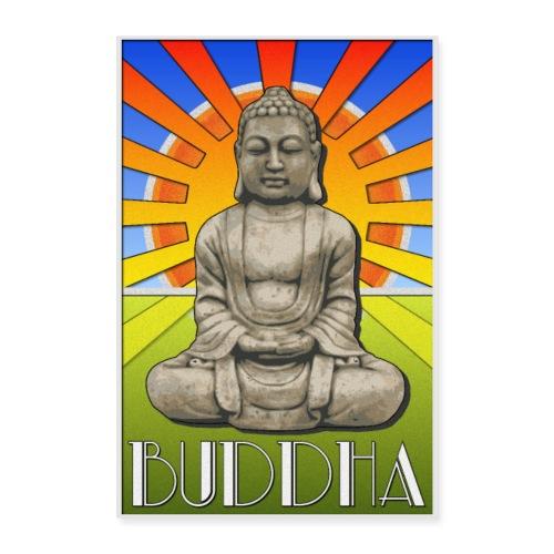 Buddha Art Deco Poster Style Design - Poster 8x12