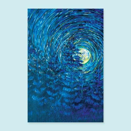 Blue Pine tree - Poster 8x12