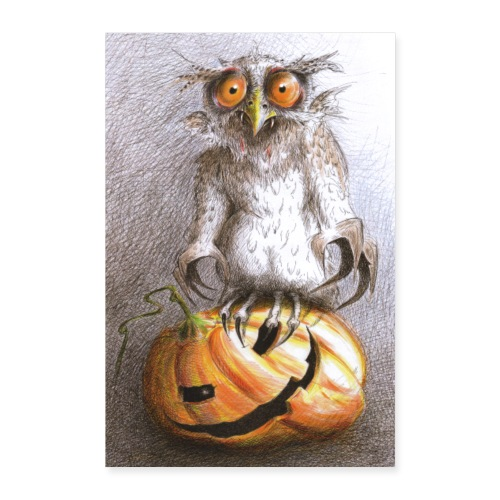 Vampire Owl - Poster 8x12