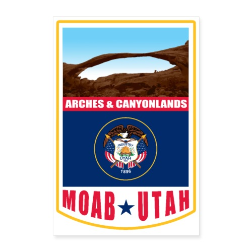 Utah - Moab, Arches & Canyonlands - Poster 8x12