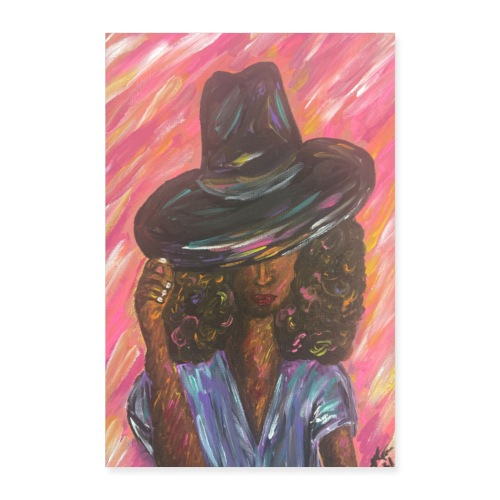 Beauty in the Hat - Poster - Poster 8x12