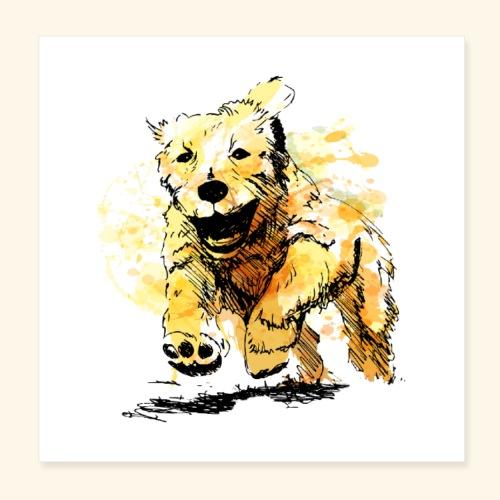 oil dog - Poster 8x8