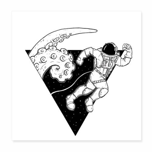Astronaut in danger - Poster 8x8