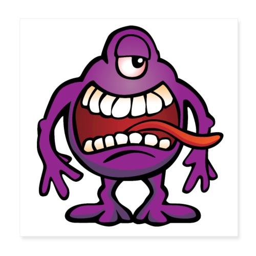 Cartoon Monster Alien - Poster 8x8