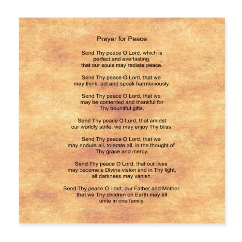 Prayer for Peace - Poster 8x8