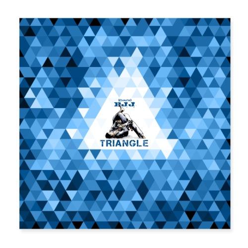 BJJ Triangle Choke blue - Poster 8x8
