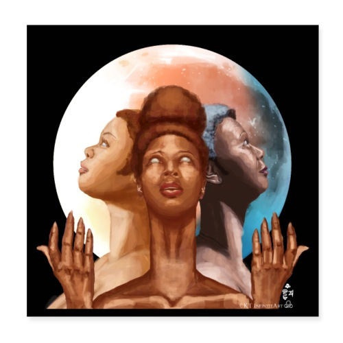 Triple Moon Goddess Eclipse - Poster 8x8