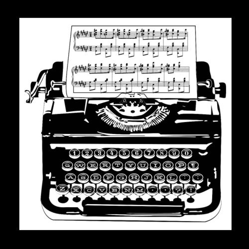 Music Type   Vintage Typewriter - Poster 8x8