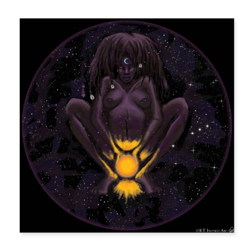 Great Black Mother:Darkness that Births the Light - Poster 8x8