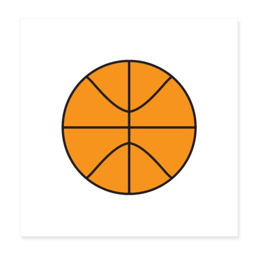 Plain basketball - Poster 8x8