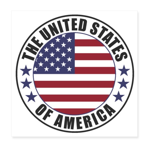 The United States of America - USA - Poster 8x8