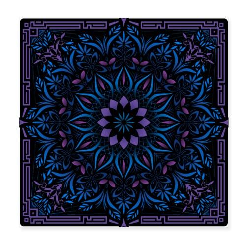 Psychedelic Mandala Geometric Color Illustration - Poster 8x8