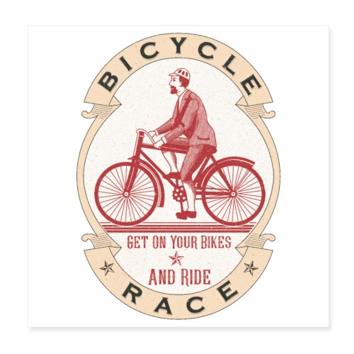 Vintage Bicycle Racer - Poster 8x8