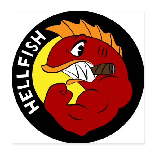Hellfish - Flying Hellfish - Poster 8x8