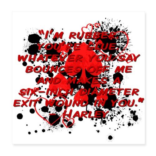 Crazy Joker Girl - Poster 8x8