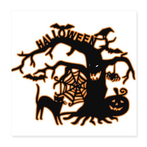 Halloween tree - Poster 8x8