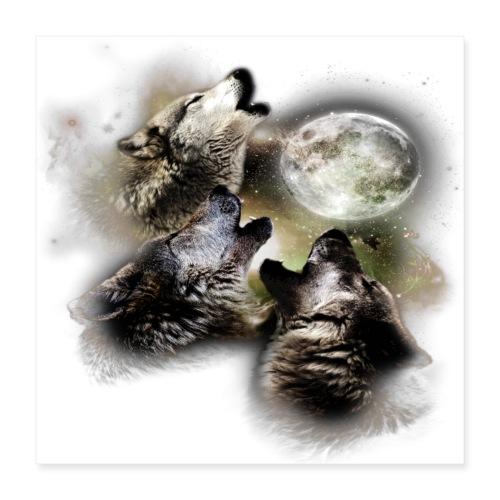 Baying at the Moon - Poster 16x16