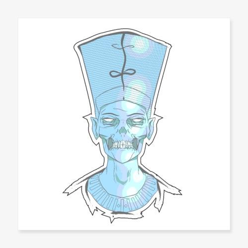 Nefertiti skull - Poster 16x16
