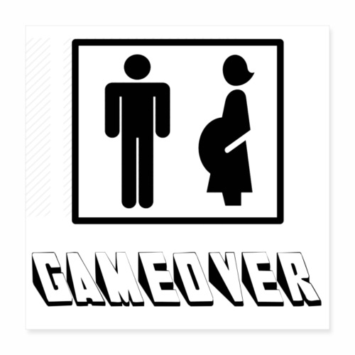 GAMEOVER - Poster 16x16