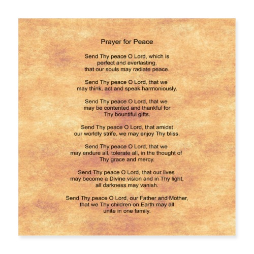 Prayer for Peace - Poster 16x16