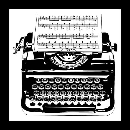 Music Type   Vintage Typewriter - Poster 16x16