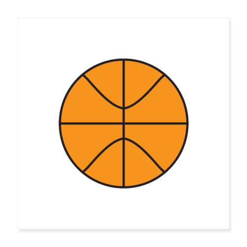 Plain basketball - Poster 16x16