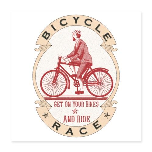 Vintage Bicycle Racer - Poster 16x16