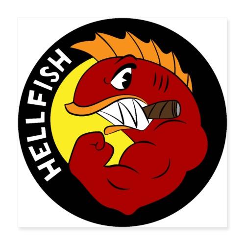 Hellfish - Flying Hellfish - Poster 16x16