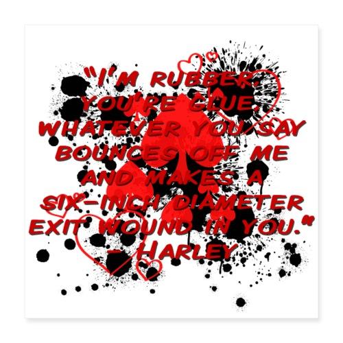 Crazy Joker Girl - Poster 16x16