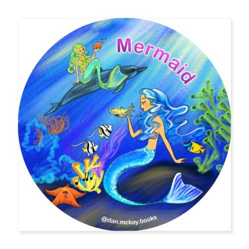 Mermaid print - Poster 16x16