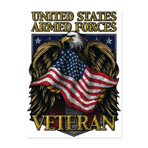 United States Armed Forces Veteran - Poster 18x24